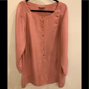 Eileen Fisher silk Tunic (or dress), Pink, XL